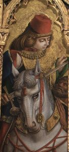 Szent Márton megosztja köpenyét kép: Crivelli
